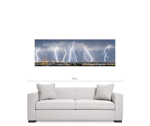 Severe Thunderstorm Panorama 20″x60″x1.25″ Premium Canvas Gallery Wrap Art