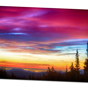 City Lights Sunrise View From Rollins Pass 32″x48″x1.25″ Premium Canvas Gallery Wrap Art