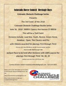 Colorado Obstacle Challenge Series @ Colorado Obstacle Challenge Series  Event 3 |  |  |