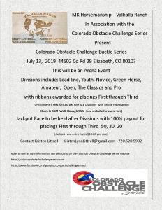 Colorado Obstacle Challenge Series @ Mk Horsemanship - Valhalla Ranch |  |  |