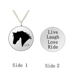 Word Necklace Live Laugh Love Ride - Valentines Day Gift Idea