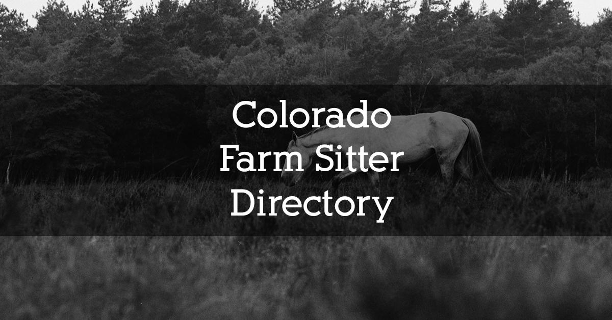 Colorado Farm Sitter Directory