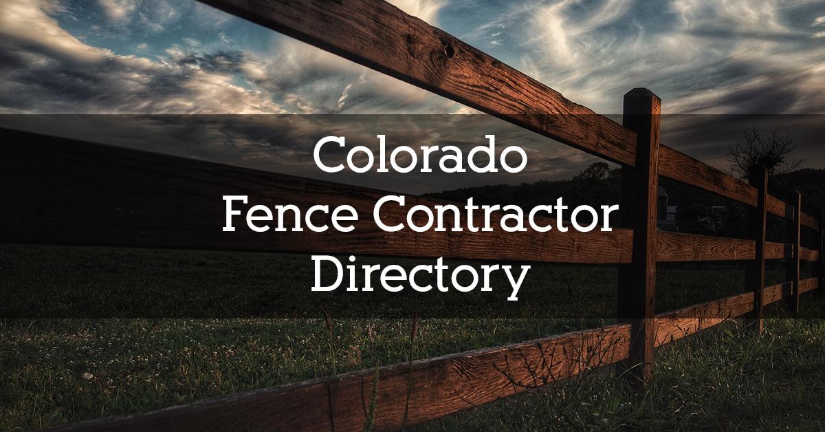 Colorado Fence Contractor Directory