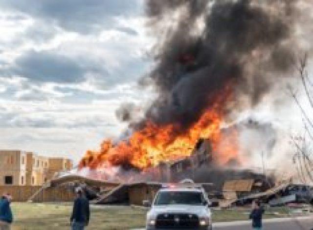 Firestone house explosion, April 17, 2017. Photo by Dennis Herrera.