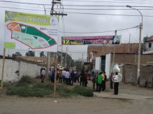 A marching band in one of the towns between Lima and Huraraz.