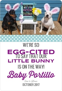 easter pregnancy announcement 1