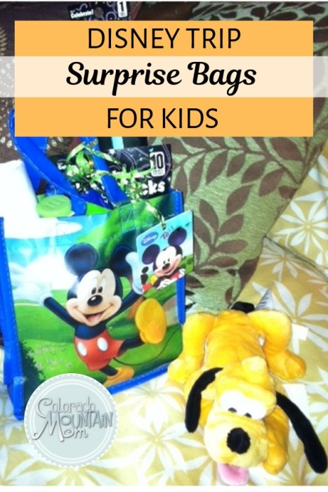 Disney Trip Surprise Bags For Kids Colorado Mountain Mom