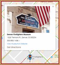 Denver Firefighters Museum - Info Marker Example