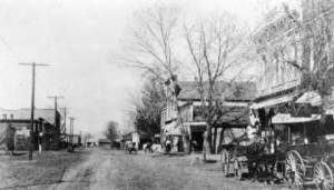Railroad Street Arvada 1900 - 1903