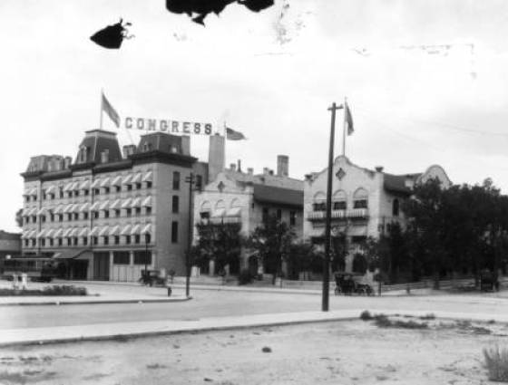The Congress Hotel at 8th & Santa Fe.  The north wing is the historic Grand Hotel, 1910.
