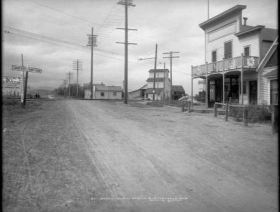 Broomfield - Reached via Denver & Interurban Railroad and Colorado and Southern Railway along dirt street, 1908-1918
