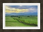 Colorado Country Fence To The Rockies Framed Print