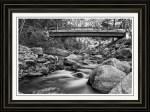 The Crossing In Black And White Framed Fine Art Print