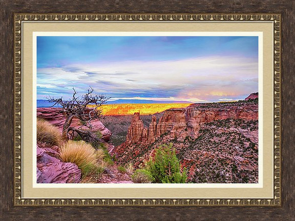 Colorado National Monument Timed Stack Framed Print