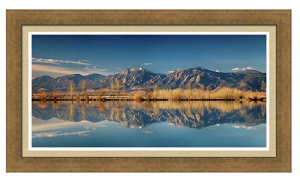 Boulder Colorado Rocky Mountains Flatirons Reflections Framed Print