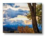 Colorado Rocky Mountain Twin Peaks Autumn View Metal Print