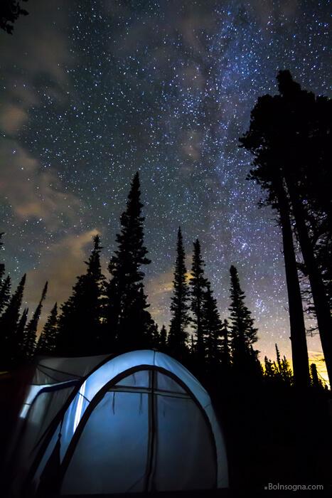 Camping Star Light Star Bright Print