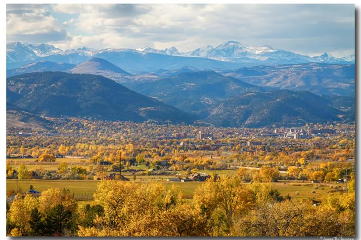 Boulder Colorado Autumn Scenic View