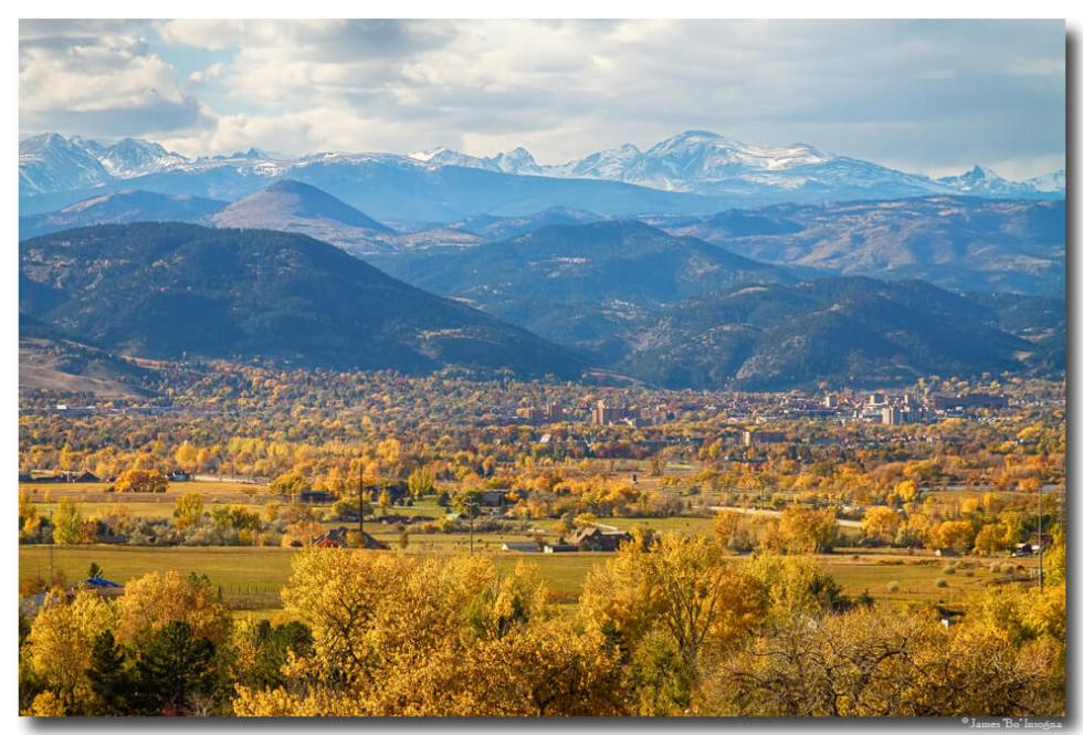 Boulder Colorado Autumn Scenic View Fine Art Prints