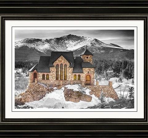 Chapel On The Rock Bwsc Framed Print