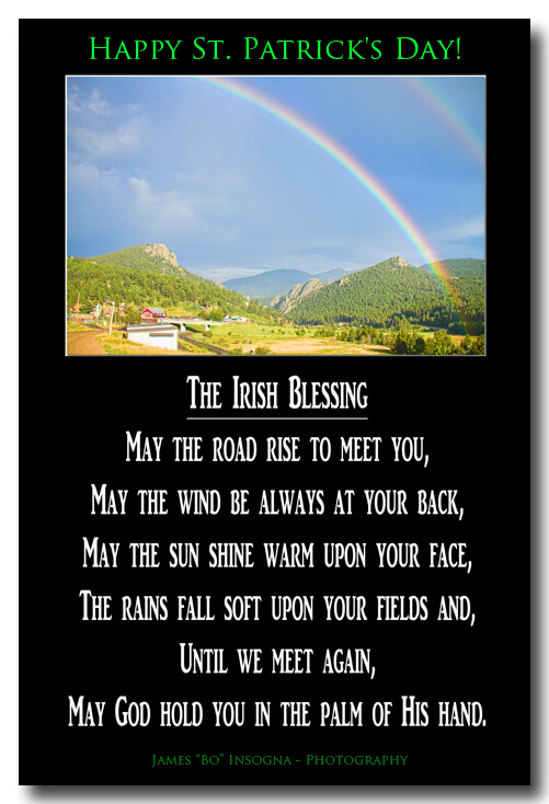 The Irish Blessing Poster