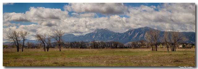 Boulder Coloorado Front Range Panorama View Art Prints
