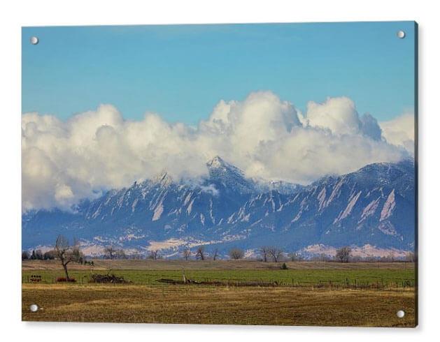 Front Range Cloud Pile On Boulder Colorado Views