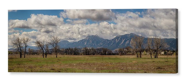 Boulder Colorado Front Range Panorama View Canvas Print