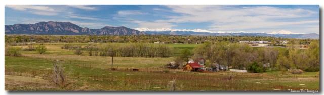 Boulder Louisville Lafayette Colorado Front Range Panorama Art Print