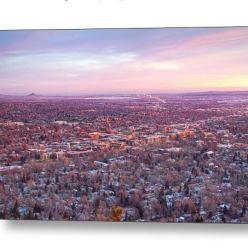 Downtown Boulder Colorado Morning View Metal Print