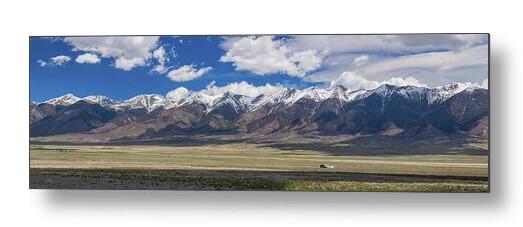 Colorado San De Cristo Mountains Panorama View Metal Print
