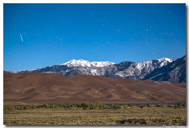 Colorado Great Sand Dunes with Falling Star Art