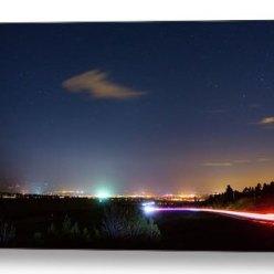 Driving Into Boulder Colorado City Lights Metal Print