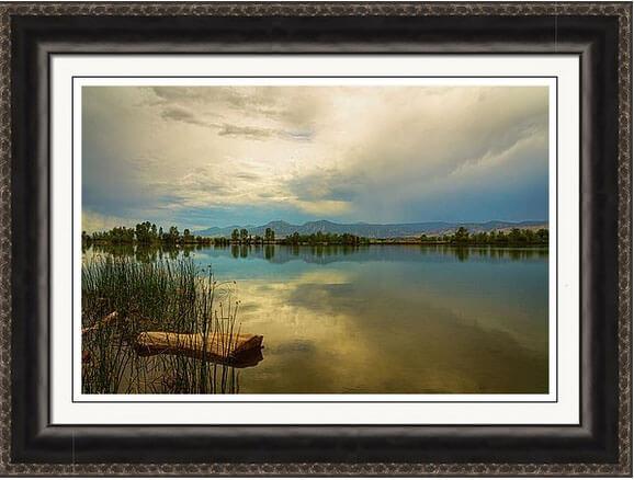 Boulder County Colorado Calm Before The Storm Framed Print