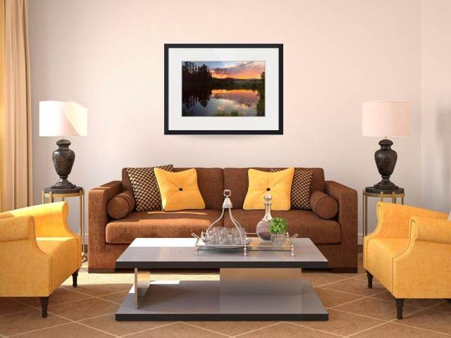 "Rollinsville Sunset Reflections Art Prints by James ""BO"" Insogna"