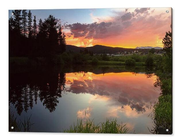 Rollinsville Sunset Reflections Acrylic Print