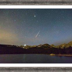 Perseid Meteor Shower Indian Peaks Framed Print