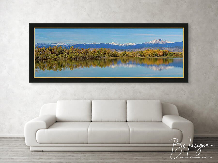 Astonishing Rocky Mountain Fall Front Range Panoramic Framed Print