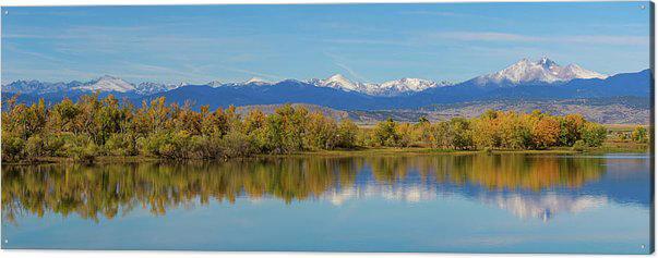 Rocky Mountain Front Range Autumn Panorama Acrylic Print