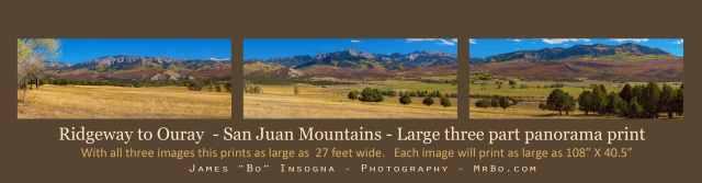 Print San Juan Mountains Super Large Panorama