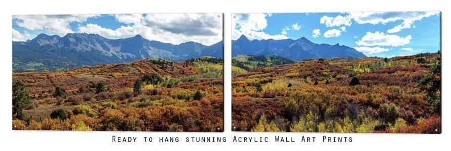 Colorado San Juan Mountains Painted Landscape Panorama Art Print