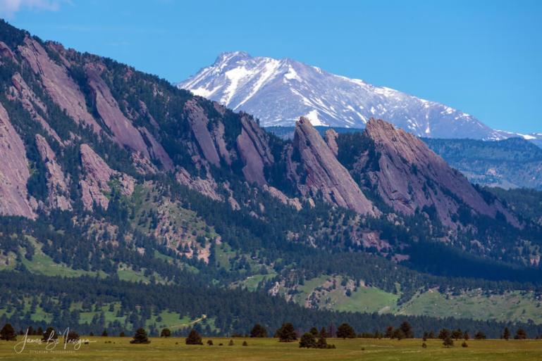 Boulder Flatirons and Longs Peak