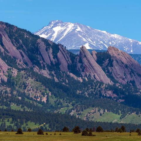 Boulder Flatirons and Longs Peak