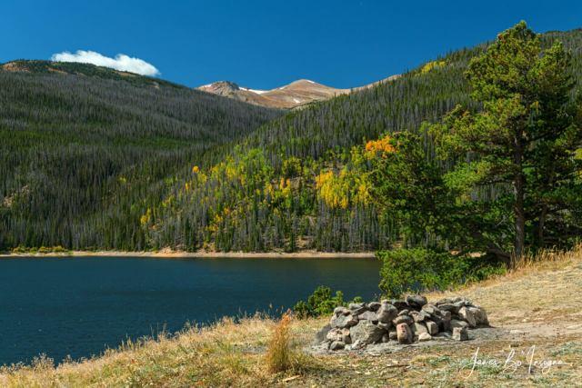Autumn Camping Spot View Art Print