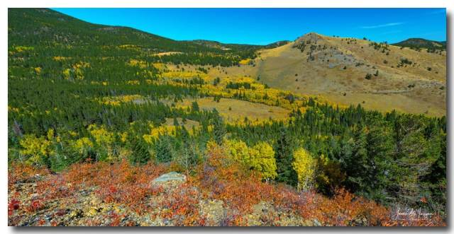 Colorado West Boulder County Autumn Panoramic View Art Print