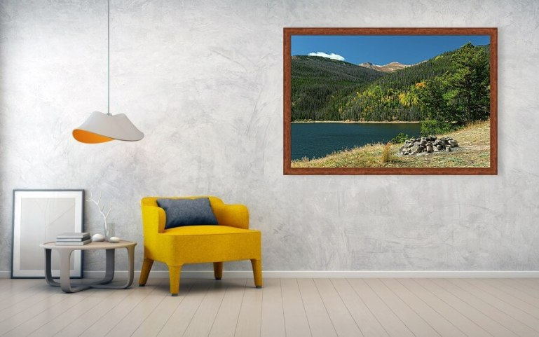 Autumn Camping Spot View Framed Print