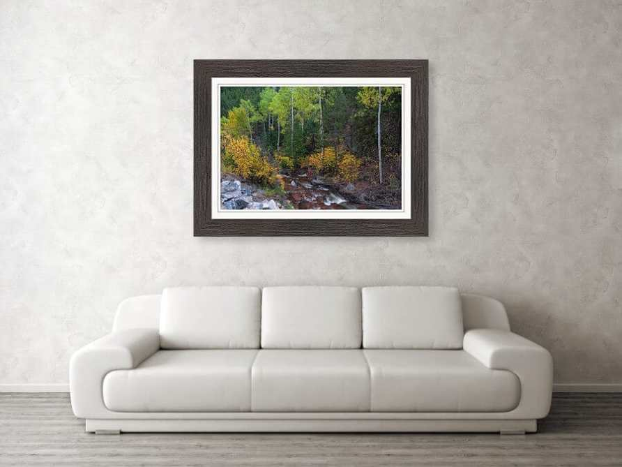 Beautiful Mountain Stream Paradise Framed Print