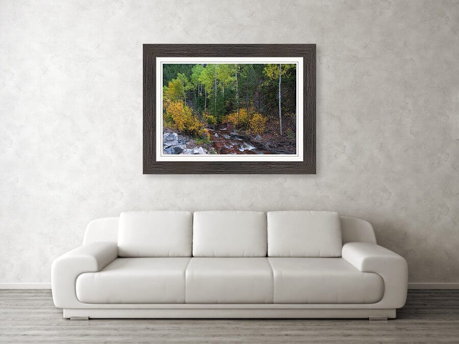 Beautiful Mountain Paradise Framed Print
