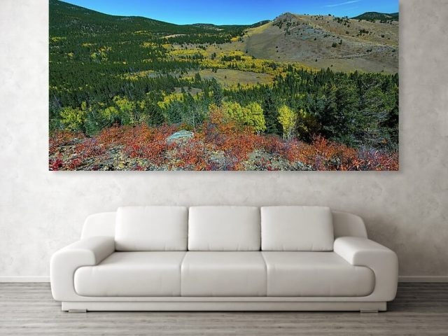 Boulder County Colorado Autumn Panoramic View Canvas Print