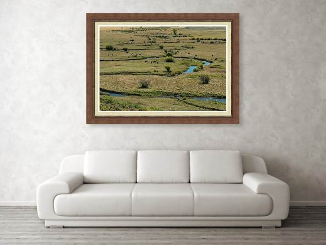 Cattle Country Landscape Framed Print